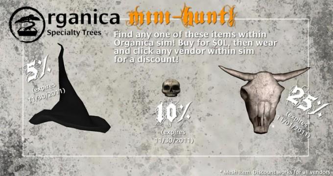 Organica Sim-wide Halloween Hunt! (plus one more release!)