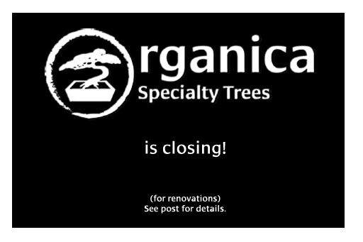 Organica is closing + sale!