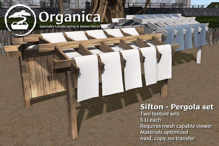 New Pergola now available!