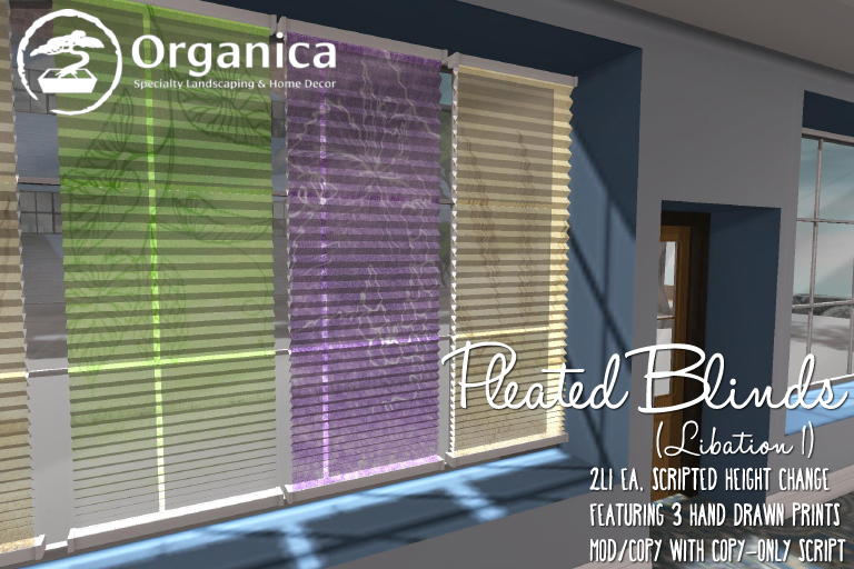 New Pleated Blinds!
