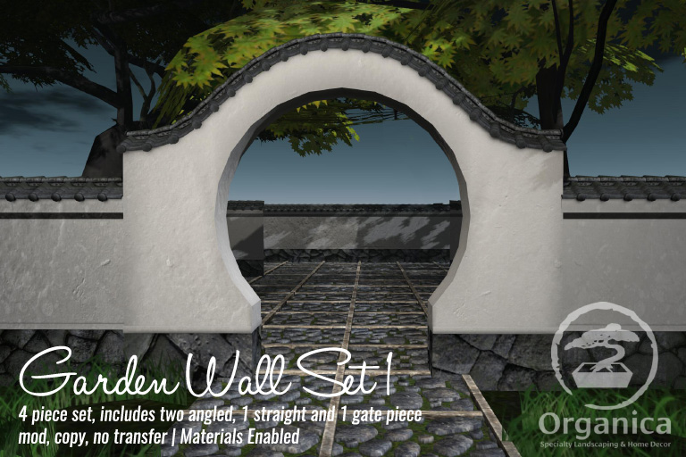 New tree, ground tiles, garden walls this week at Organica!