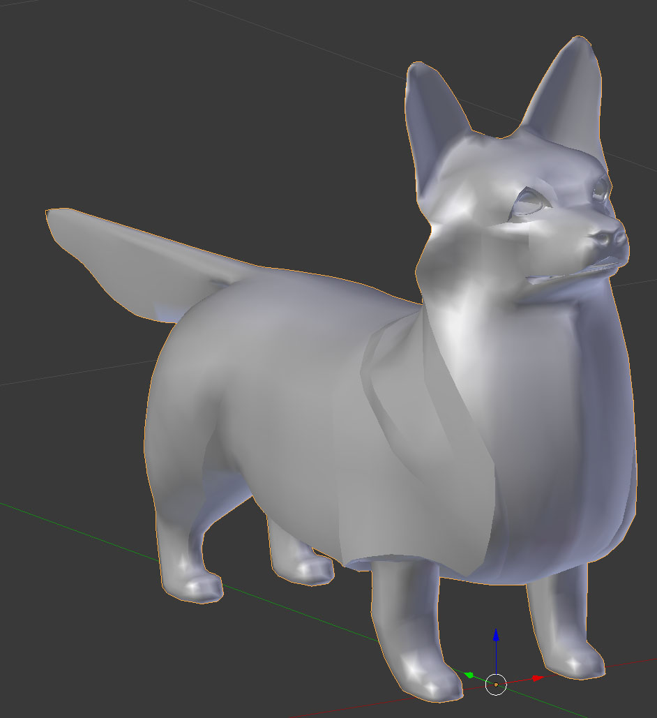 Corgi Week 1: Working with modifiers in Blender to help visualize advanced geometry efficiently